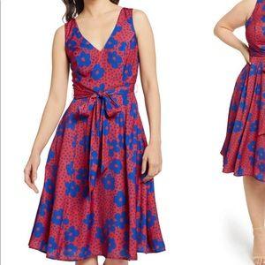 Modcloth cut out back floral dress